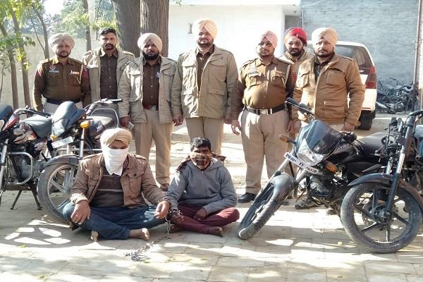 motorcycles thieves burgled 4 bikes recovered