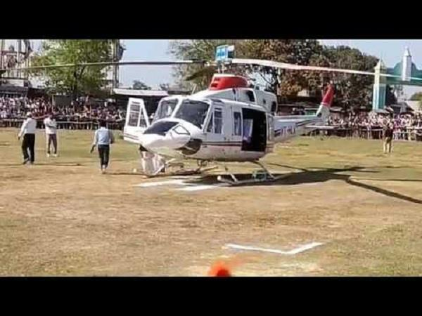 deputy cm helicopter mounted helicopter and took soldier
