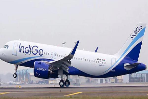 indigo s first flight for bhopal from heiderabad read full news