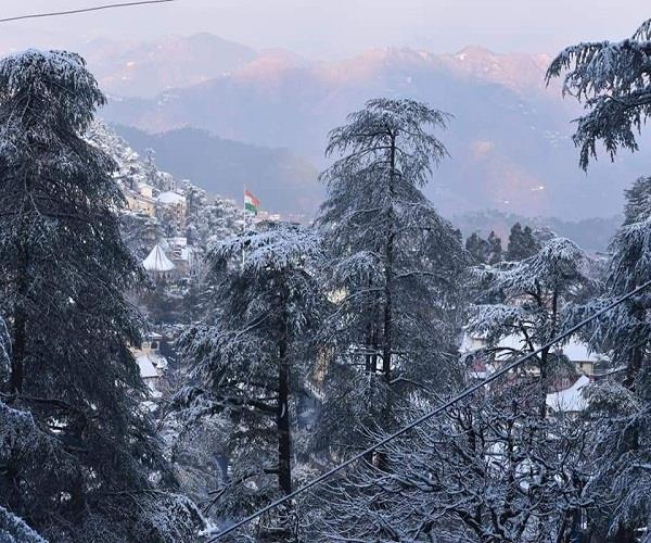 fresh snowfall in upper areas