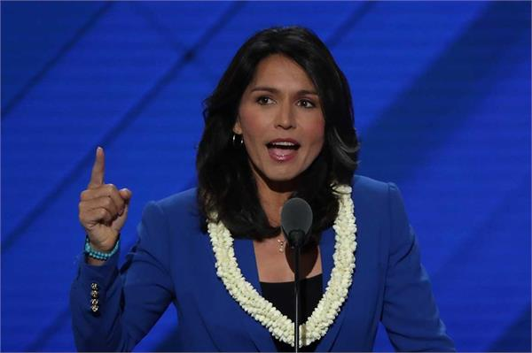 tulsi gabbard is proud to be the first hindu contender for president post