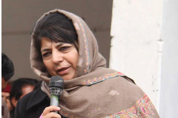talk should be held with militants said mehbooba