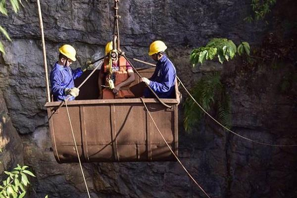 rescue efforts to save the lives of coal miners trapped in meghalaya
