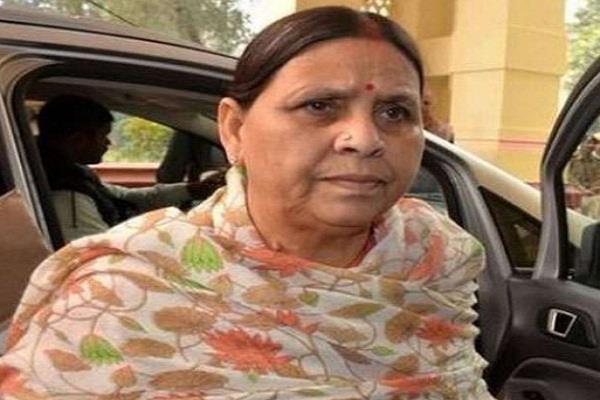 rabri devi attacked on bihar government