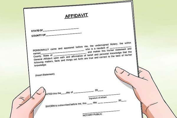14 years later the  deceased  affidavit the notary has verified