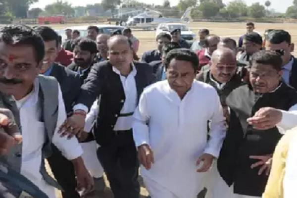congress not bjp leaders did welcome cm at airport know reason