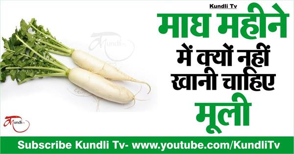 why should not eat radish in the month of magh