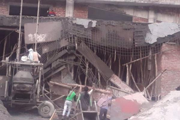 building under construction of doon medical college was damaged