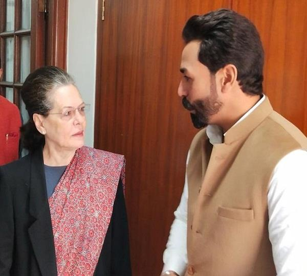youth leader goldy meet sonia gandhi