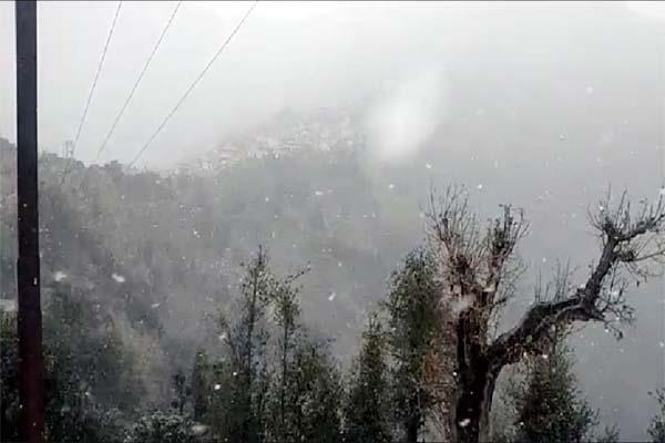 third snowfall of the season in the upper areas of sirmaur
