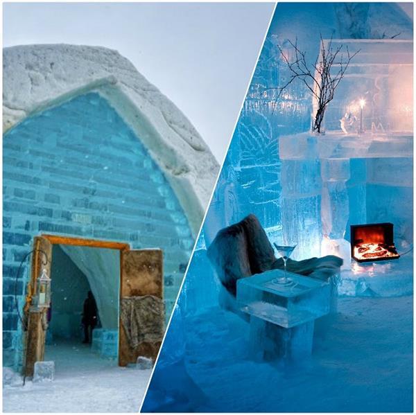 ऐसा होटल जो सर्दियों में रहता है और बाद में बन जाता है नदी