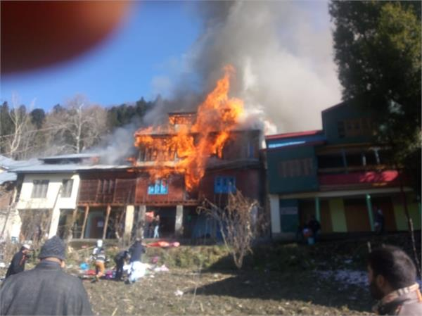 fire brokeout in doda 7 houses damaged