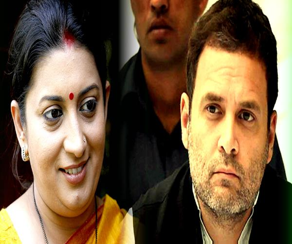 poster war in amethi before rahul gandhi and smriti irani