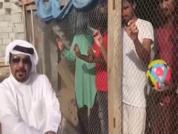 uae man locks up indian football fans in cage before match