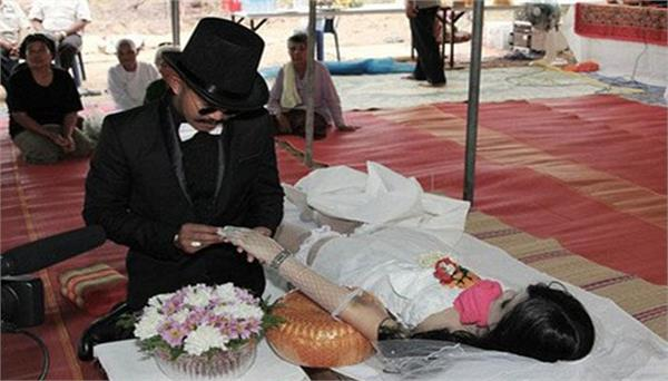 chinese boys get married to dead body of girl