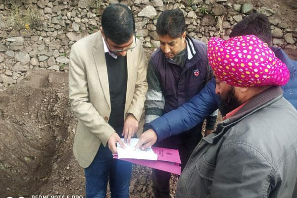dc poonch visit loc to take stock of bunker construction