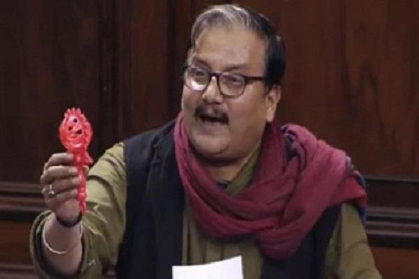 rjd leader show jhunjhuna in the parliament