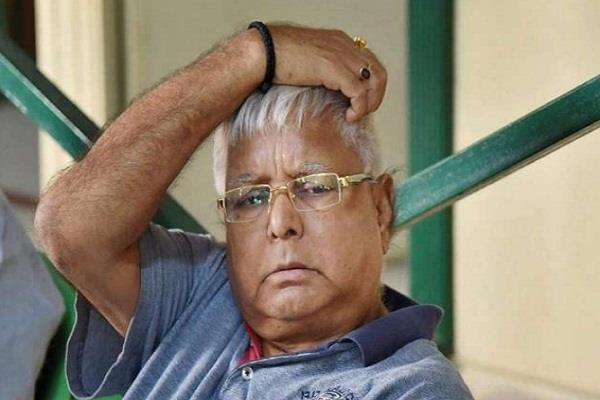 improvement is not being done in health of lalu