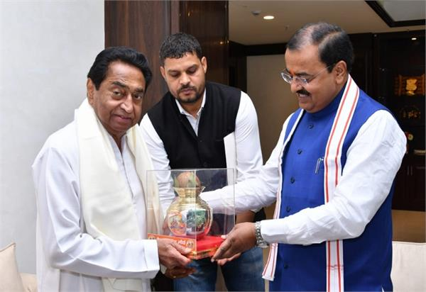 up deputy cm invited kamal nath and mp mps for aqueduct