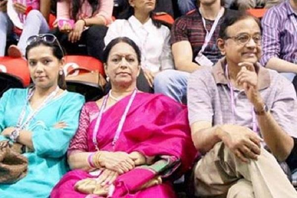 sharda chit fund cbi chargesheet filed against p chidambaram s wife nalini
