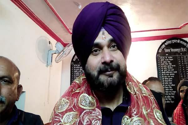 cabinet minister navjot singh sidhu again reached the court of maa naina