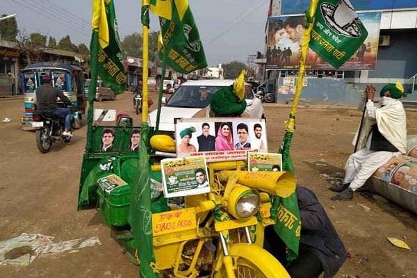 jind jjp worker jaisinghpura got challan on motorcycle
