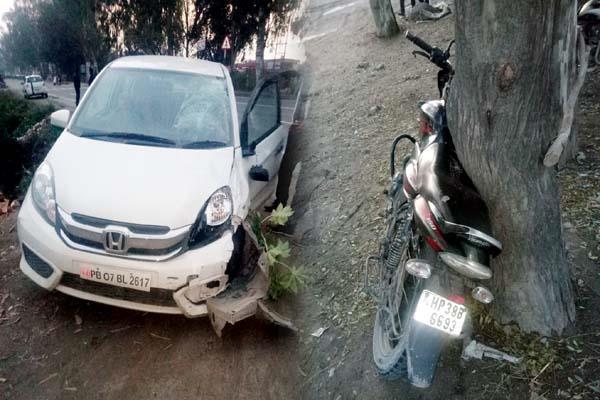 car hit the bike death of husband wife injured