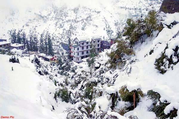 heavy snowfall warning in lahaul till january 12 danger of falling glacier