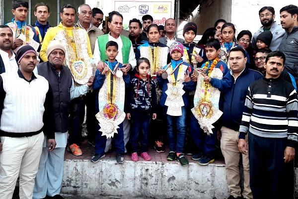 players won the medal in wushu competition in jalandhar punjab