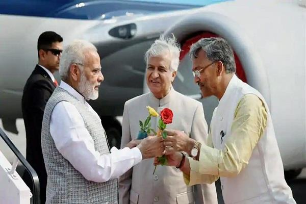 prime minister narendra modi on uttarakhand tour