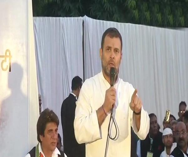 unless the congress government is formed in up i will not sit still rahul