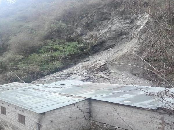 landslide in sainj valley