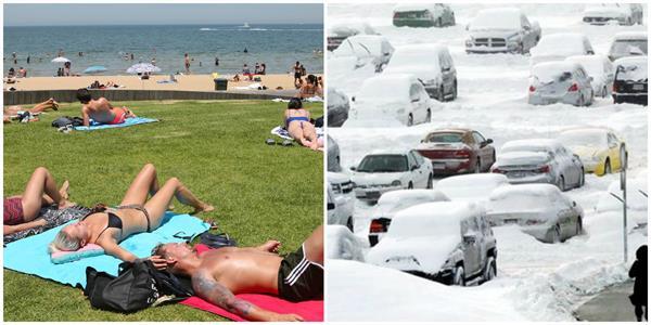 heatwave in australia temperatures rise on