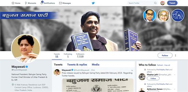 mayawati on first twitter strong entry before lok sabha elections
