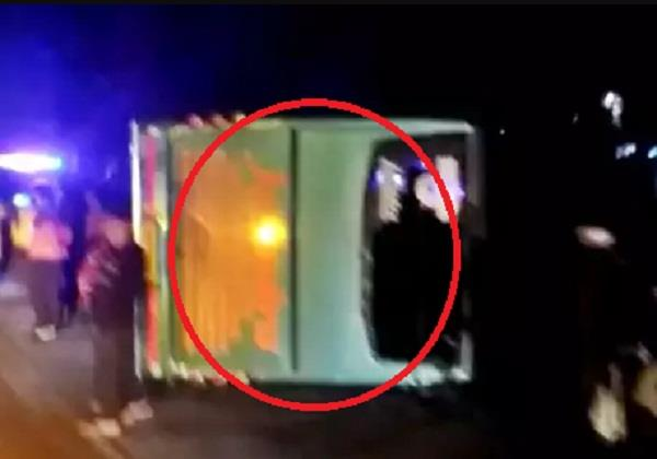road accident in pinjore private bus filled with staff