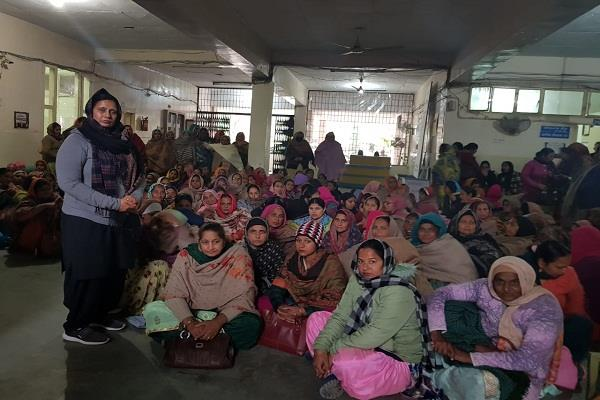 strike by the anganwadi workers