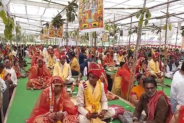 organize a mass wedding ceremony on the occasion of basant