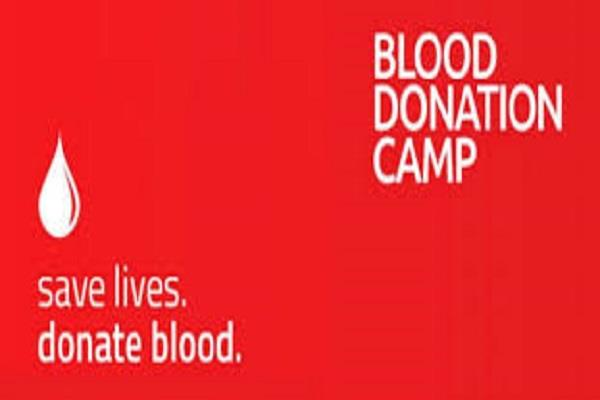 blood donation camp put in memory of amar shahid sohan lal pathak