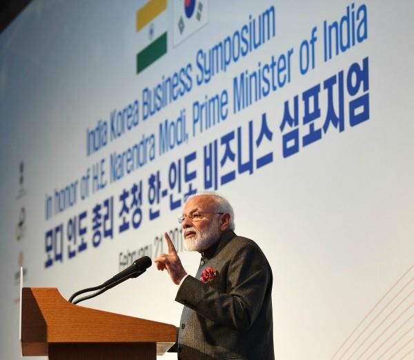 pm modi in seoul the foundation of indian economy is strong
