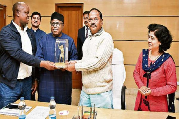 cm raghubar meets nigerian delegation discusses state plans