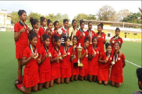 junior national women s hockey championship jharkhand champion