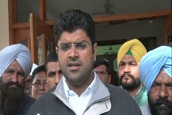 sirsa mp dushyant chautala meets workers