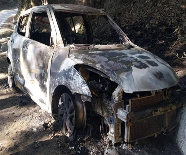 after the robbery burnt alive the youth in the car