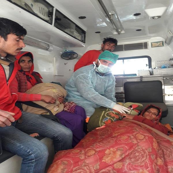 108 ambulance proved to be a boon for pregnant woman