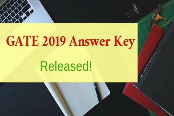 gate 2019 exam key of the exam such check