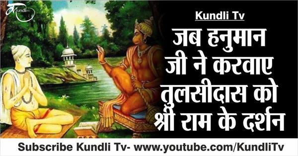 when hanuman ji did the tulsidas darshan of shri ram