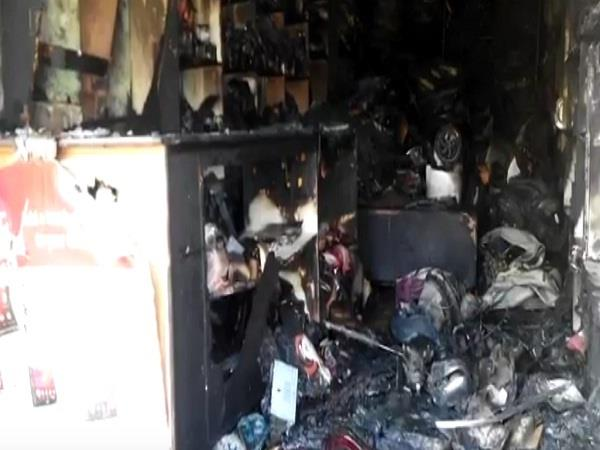fire in shop