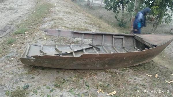 bsf caught the boat from pakistan in sutlej dariya