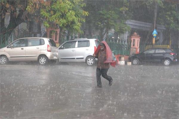 due to torrential rains and hailstorm in meerut