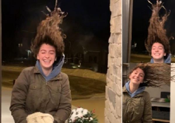 us woman s wet hair instantly freezes into cool hairdo video goes viral